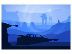 Star Wars T-47 Airspeeder Lithograph (The Empire Strikes Back)