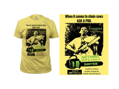 Texas Chainsaw Massacre Cuts Like a Sawyer T-Shirt