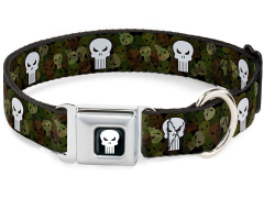 Marvel Punisher (Camo Logo) SeatBelt Buckle Dog Collar