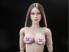 Super Model Head Sculpt (Brunette) & Female Body 1/6 Scale Set