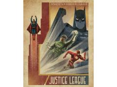 Justice League Art Deco Justice: Strength, Power, Courage Canvas Art Print