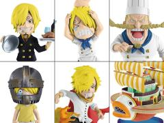 One Piece World Collectable Figure History of Sanji Set of 6