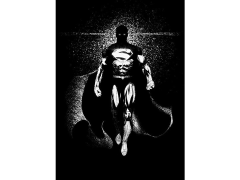 DC Dark Edition Superman Displate Metal Print