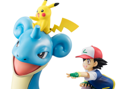 Pokemon G.E.M. Figure Ash With Pikachu & Lapras