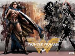 Batman v Superman Warrior Goddess MightyPrint Wall Art