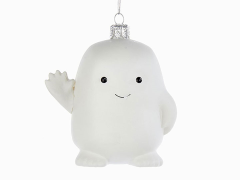 Doctor Who Adipose Glass Ornament