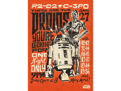 Star Wars Legends Droids Displate Metal Print