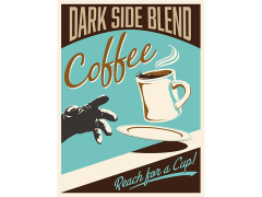 Star Wars Dark Side Blend Canvas Wrapped Print