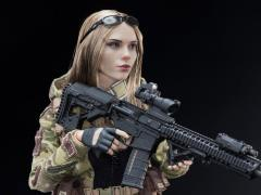 MC Camouflage Women Soldier Villa 1/6 Scale Figure