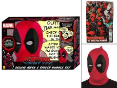 Marvel Deadpool Deluxe Mask & Speech Bubble Box Set PX Previews Exclusive