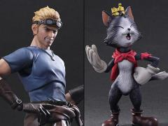 Final Fantasy Play Arts Kai Cid Highwind & Cait Sith
