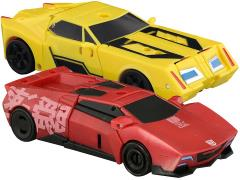 Transformers Adventure TAV-44 Sideswipe & Bumblebee With Supreme Armor