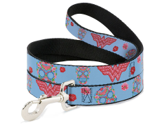 DC Comics Wonder Woman (Floral Skull) Dog Leash