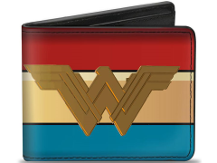 Wonder Woman Icon Stripe Bi-Fold Wallet