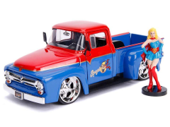 DC Comics Bombshells Die Cast Supergirl & 1956 Ford F-100 Pickup