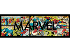 Marvel Title: Marvel Comics Panels Canvas Art Print