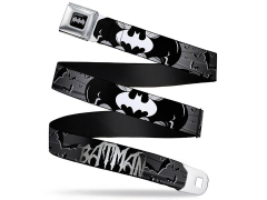 DC Comics Batman (Bat Signals & Flying Bats) SeatBelt Buckle Belt