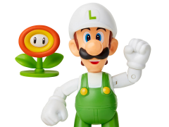"World of Nintendo 4"" Fire Luigi Figure"