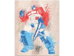 Transformers Optimus Prime Splash Canvas Art Print