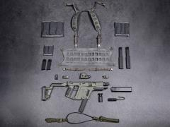 Elite Firearms Series 3 1/6 Scale Vector Submachine Gun Set (Olive Green & Grey)