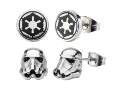 Star Wars Stormtrooper & Galactic Empire Symbol Stud Earring Set