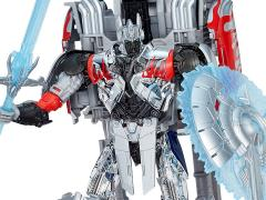 Transformers:  The Age of Extinction Platinum Edition Silver Knight Optimus Prime Exclusive