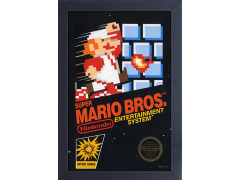 Super Mario Bros. Cover Framed Art Print