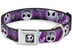 The Nightmare Before Christmas Jack Expressions (Ghosts in Cemetary) SeatBelt Buckle Dog Collar