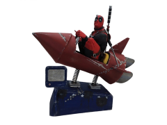 Marvel Premium Motion Statue - Deadpool Rocket Ride