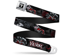 Marvel Venom (Spider Logo) SeatBelt Buckle Belt