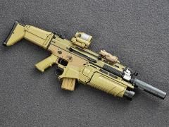 SCAR Assault Rifle (Mk16 in Tan) 1/6 Scale Accessory Set