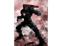 Marvel Dark Edition War Machine Displate Metal Print