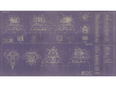 LEM Equipment Layout Aero-Art Blueprint Poster