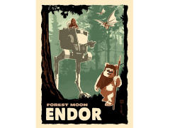 Star Wars Destination Endor Art Print