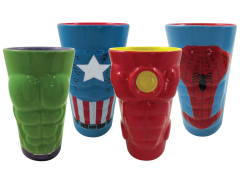 Marvel Heroes Molded Pint Glass Four Pack