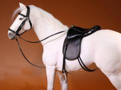 German Hanoverian Horse (White) 1/6 Scale Figure