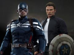 Captain America: The Winter Soldier MMS243 Captain America & Steve Rogers 1/6th Scale Collectible Figures Set
