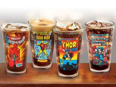 Marvel Vintage Covers Pint Glass Four Pack