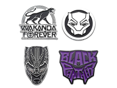 Black Panther Enamel Pin Set