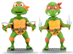 TMNT Head Knocker Set of Michelangelo & Raphael