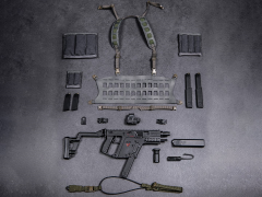 Elite Firearms Series 3 1/6 Scale Vector Submachine Gun Set (Black & Grey)