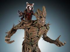 Guardians of the Galaxy Rocket and Groot Statue