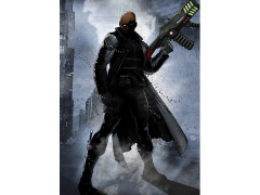 Marvel Dark Edition Nick Fury Displate Metal Print