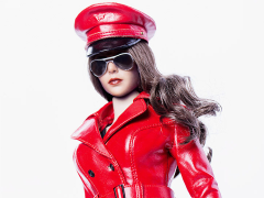 The Queen Style Leather Suit (Red) 1/6 Scale Accessory Set