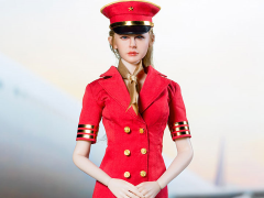 Flight Attendant Dress (Red) 1/6 Scale Accessory Set