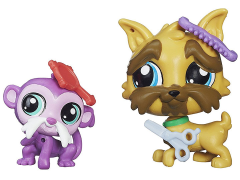 Littlest Pet Shop Pet Pawsabilities Wave 3 - Brussels Griffon Sam & Tamrin O'Monk