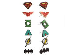 Classic Justice League Earrings 6 Pack