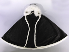 Faux Fur Cloak (Black) 1/6 Scale Accessory