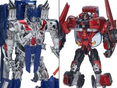 Transformers Platinum Edition Leader Optimus Prime With Trailer & Sideswipe Two Pack BBTS Exclusive