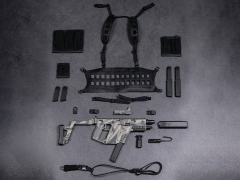 Elite Firearms Series 3 1/6 Scale Vector Submachine Gun Set (Grey Camo & Black)